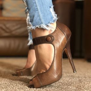 L.A.M.B. Shoes - L.A.M.B. Leather Mary Jane style heels pumps